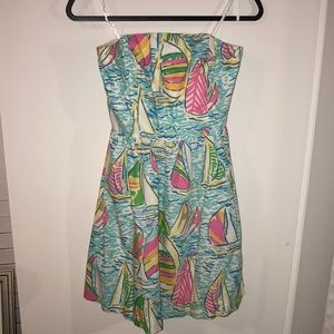 Gorgeous strapless Lilly Pulitzer dress